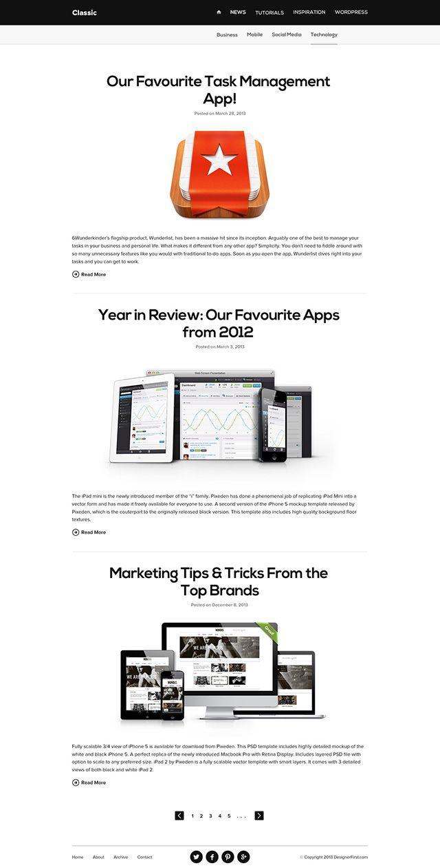 Clean & Minimal Blog Design | Web Design - Minimal
