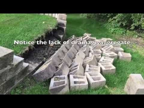 How To Build A Retaining Wall And Why They Fail Backyard Retaining Walls Building A Retaining Wall Landscaping Retaining Walls