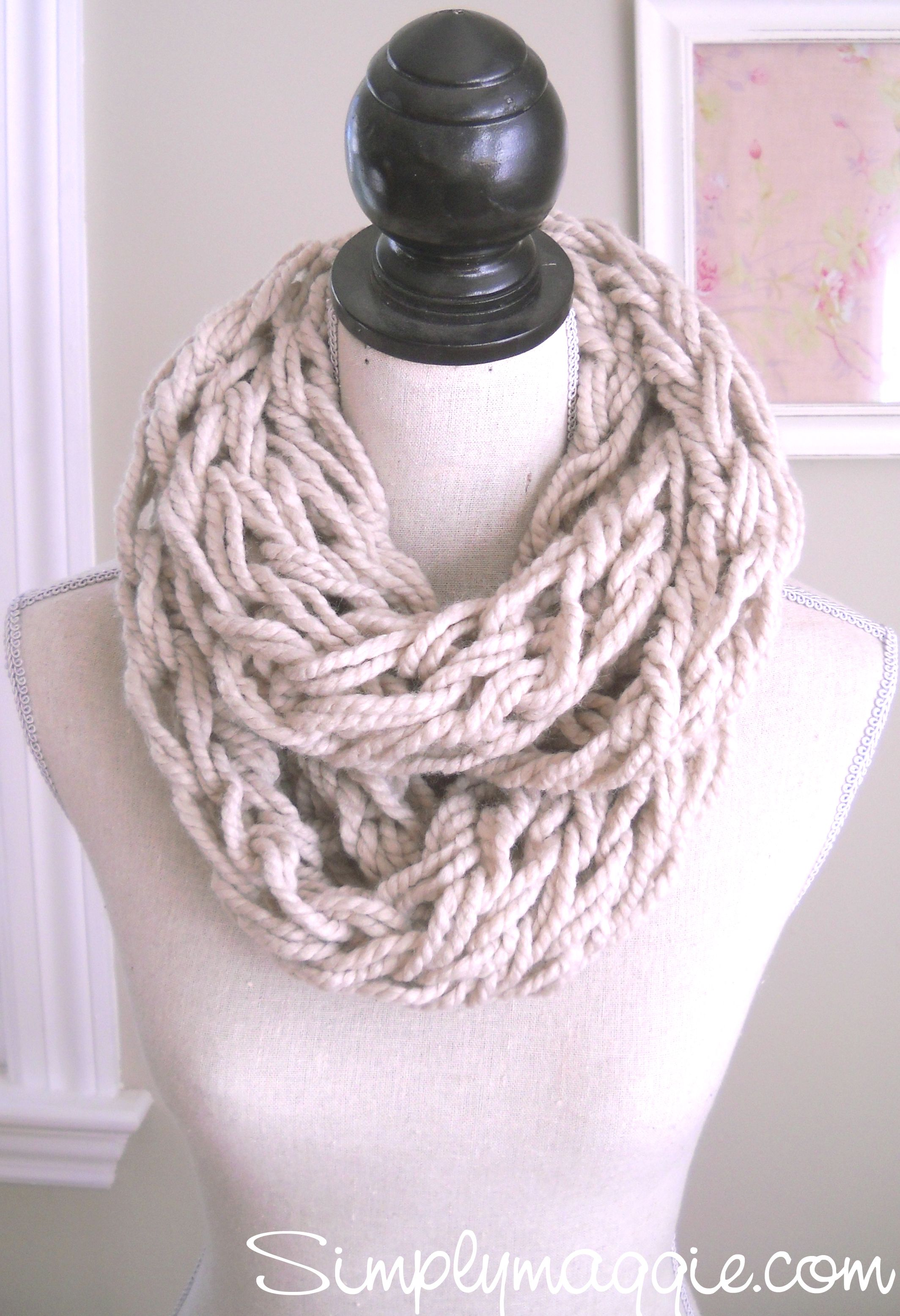 Knitting A Scarf Tutorial : Arm knitting tutorial how to simplymaggie elva