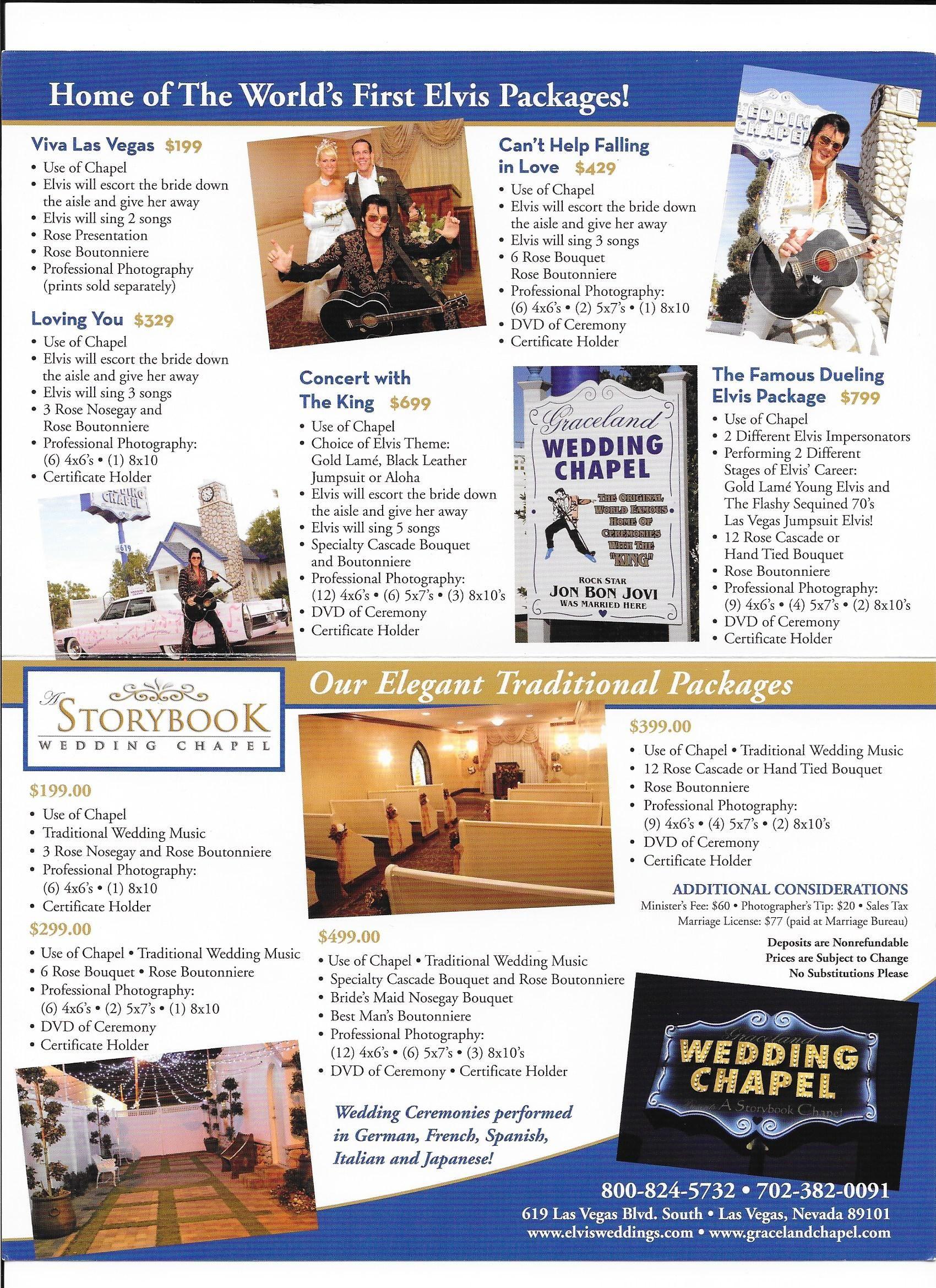 Graceland Wedding Chapel - Wedding Brochure   Las Vegas   Pinterest ...