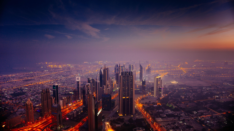 Dubai City Hd Sunrise Wallpaper
