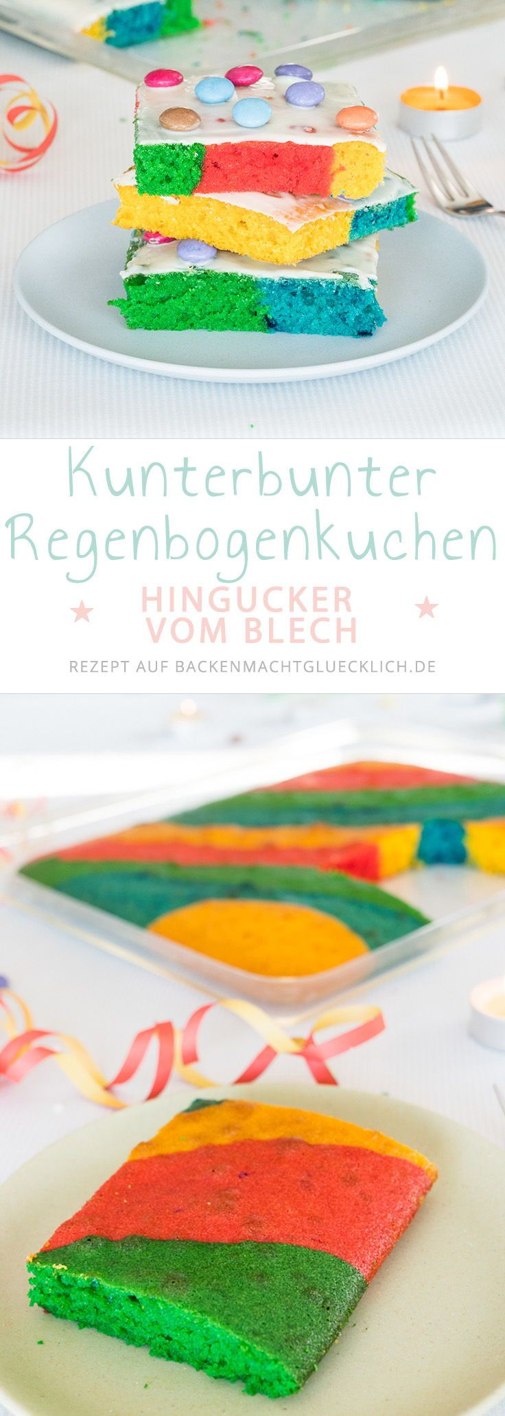 regenbogenkuchen vom blech recipe baking kuchen blechkuchen backen. Black Bedroom Furniture Sets. Home Design Ideas