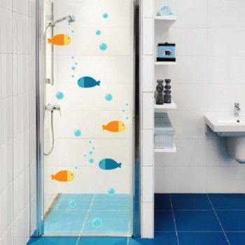 Adesivo De Parede Peixinhos Adesivo Para Banheiro Banheiro
