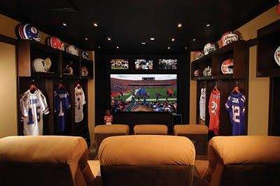 Sports Themed Theater Football Rooms Man Cave Stuff Watch