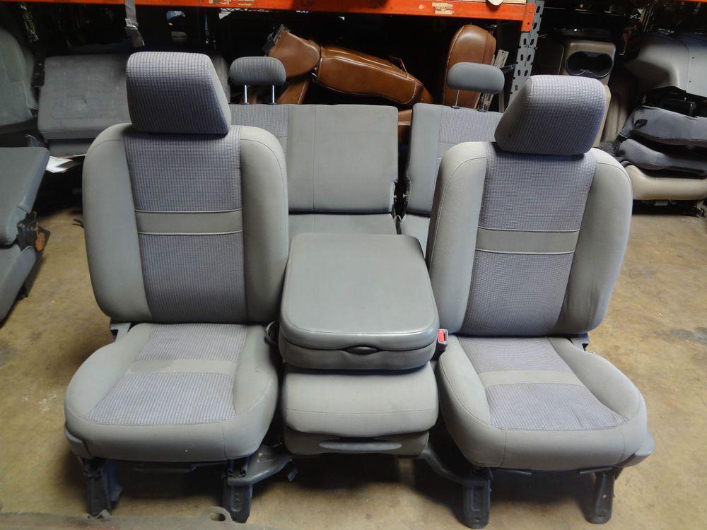 Superb Details About Dodge Hemi Ram 1500 2500 3500 Oem Seats 2002 Dailytribune Chair Design For Home Dailytribuneorg