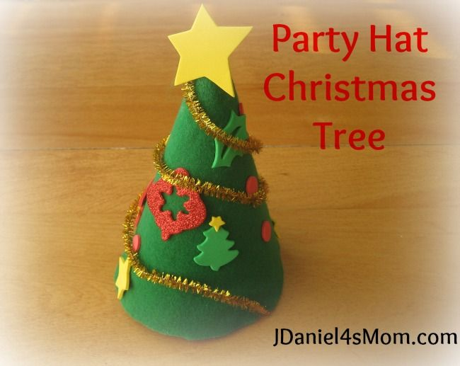 Ordinary Christmas Party Hat Ideas Part - 4: Birthday Hat Christmas Trees - Get The Kids To Make The Table Centerpieces  For Christmas Dinner