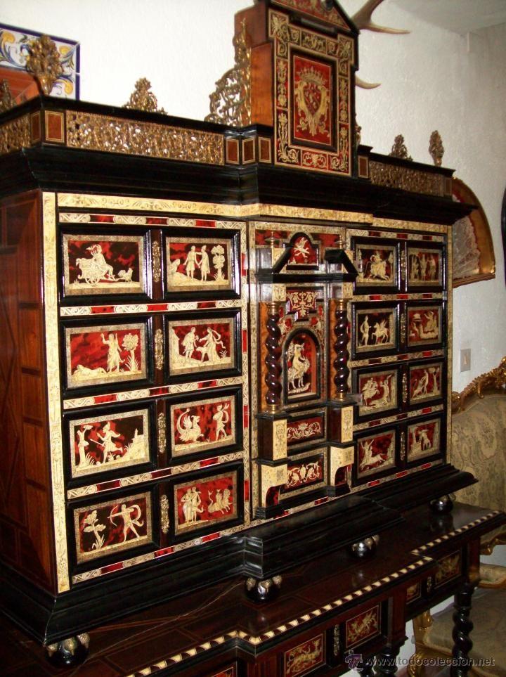 Muebles Antiguos En Todocoleccion: Bargueño Del Siglo XIX