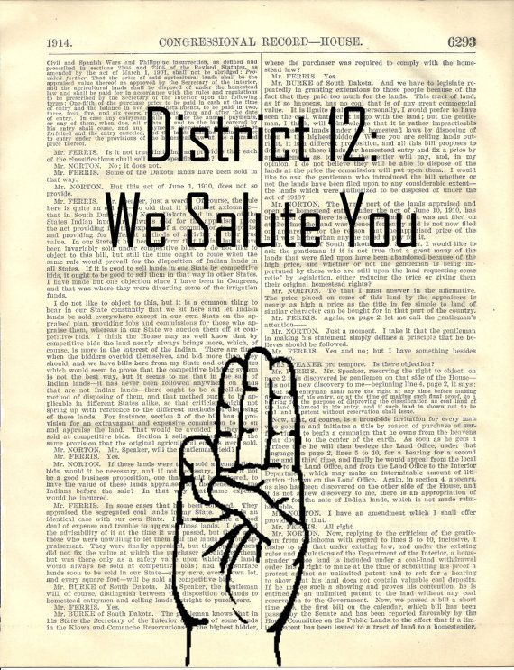 district 12 we salute you the hunger games three finger