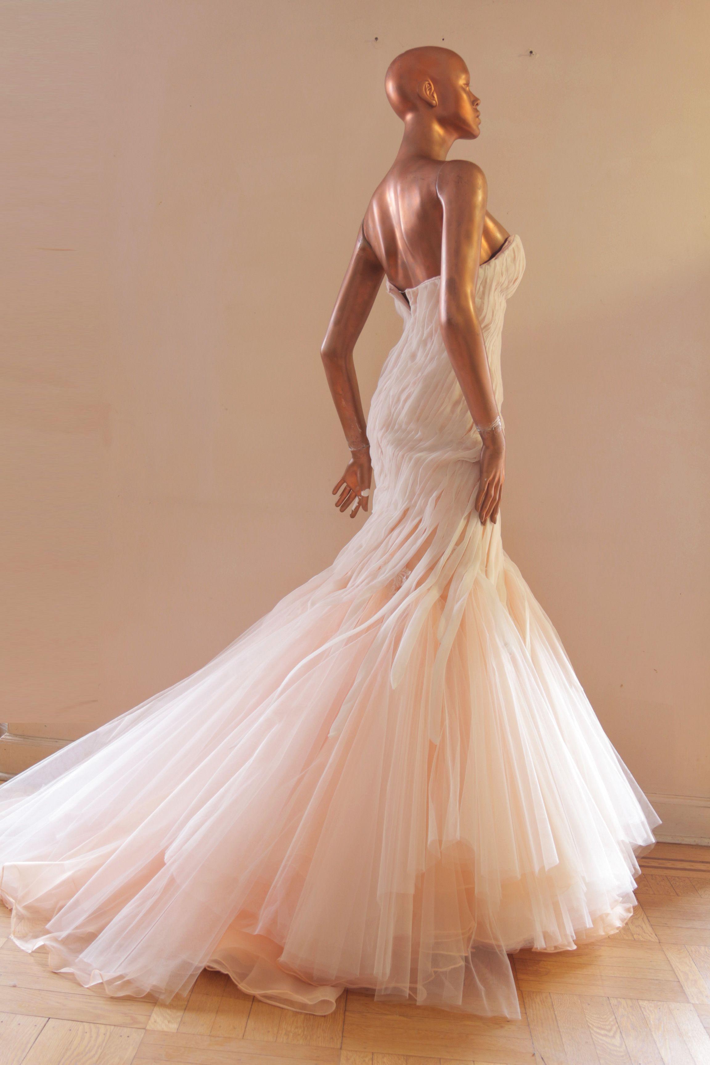 38b6327679aec Mark Zunino and Monique Lhuillier Inspired CUSTOM Couture BLUSH Mermaid Gown  -full-7