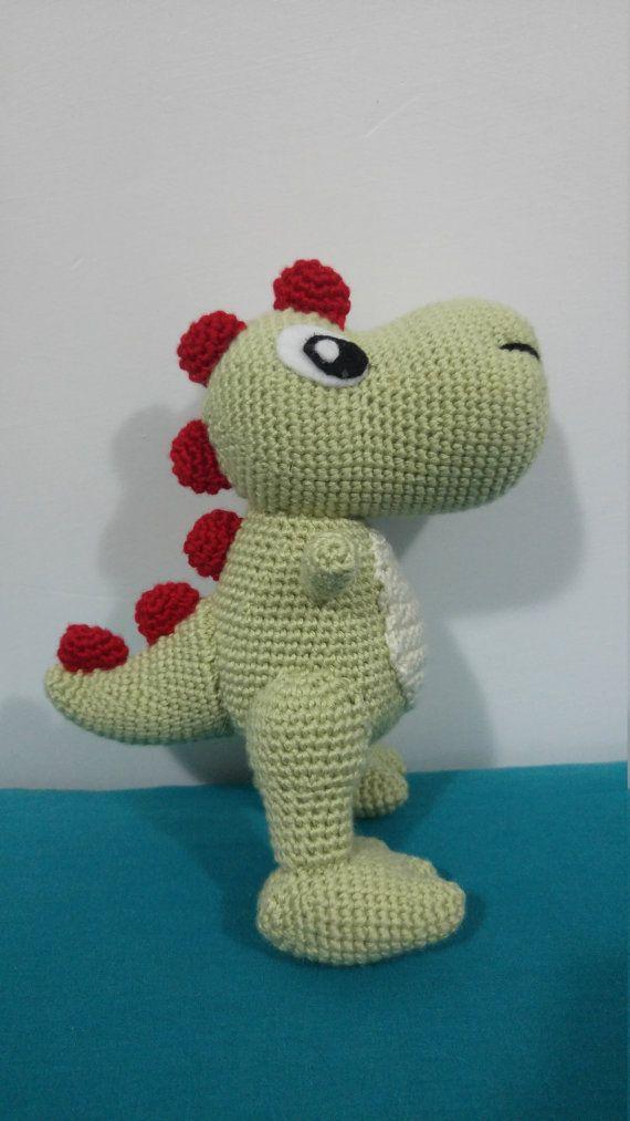 T-Rex Dinosaurio Amigurumi Muñeco tejido a Crochet por erinmejiaa ...