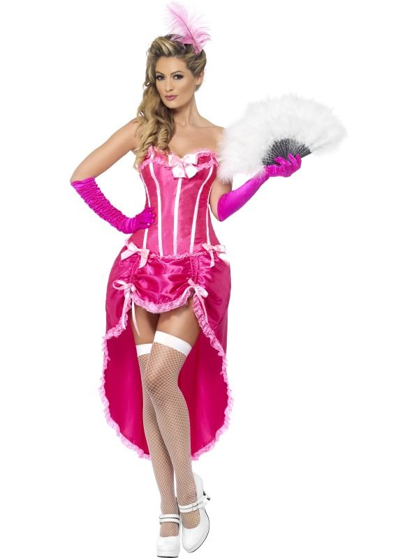 Burlesque Dancer Costume, Pink, with Adjustable Skirt and Bodice ...