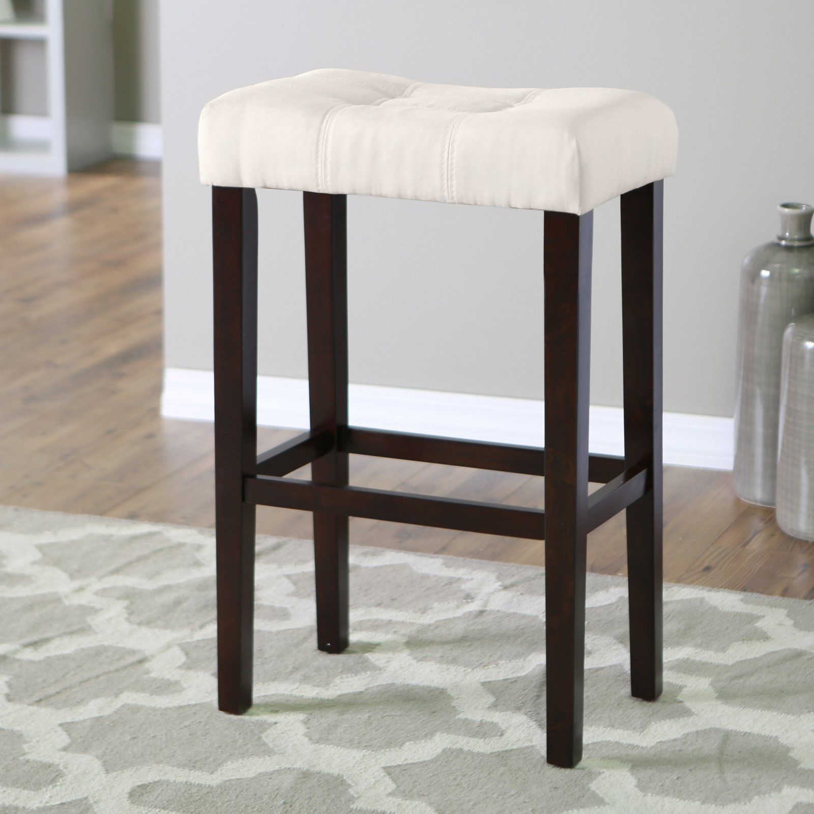 Palazzo 32 Inch Extra Tall Saddle Stool Light Beige From