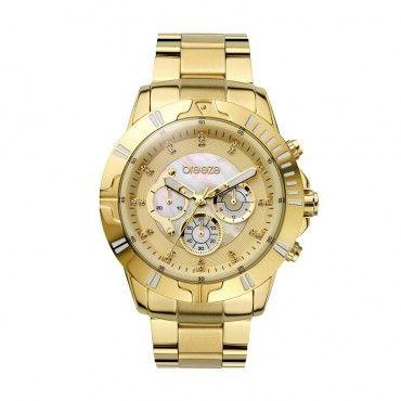Γυναικείο μοντέρνο αδιάβροχo ρολόι BREEZE Twilight Crush 2105412 χρυσό με  κίτρινο καντράν  4d17b835f28