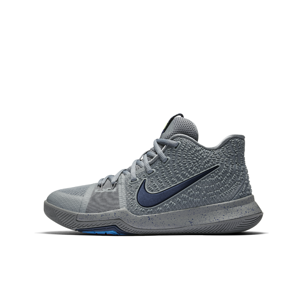 purchase cheap b0540 d8234 Nike Kyrie 3 Big Kids  Basketball Shoe Size 4.5Y (Grey)