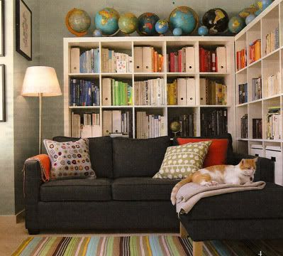 Wonderful Put The Bookshelves Behind The Sofa To Save Space AND Bring Books  Hmmm  Might Need