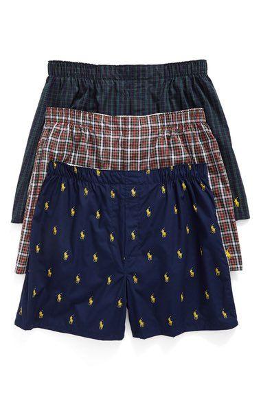 220259b8b15f POLO RALPH LAUREN 3-Pack Woven Cotton Boxers. #poloralphlauren #cloth #