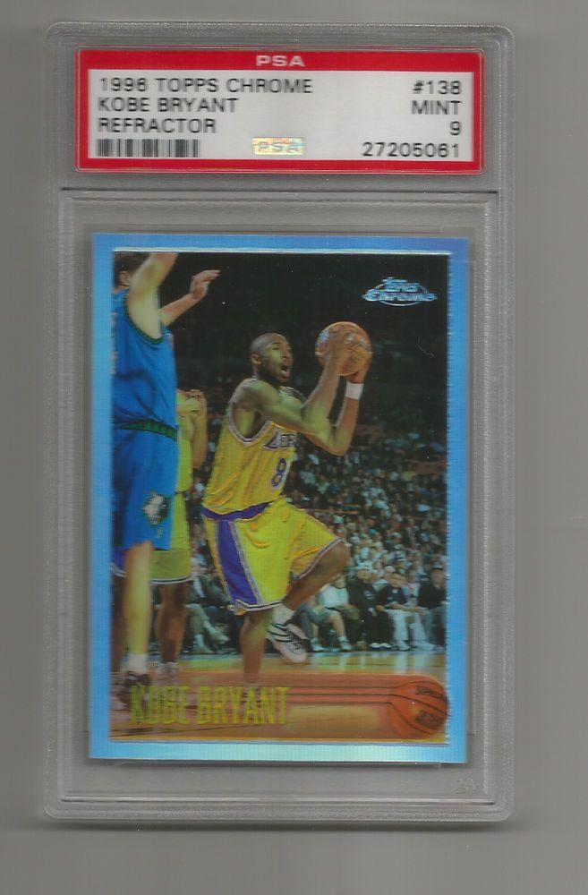 Kobe Bryant 1996 97 Topps Chrome Refractor Rookie Card Psa