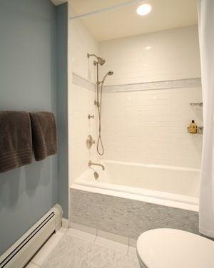 Kohler Drop In Tub In Alcove Houzz Tub Shower Combo Bathtub