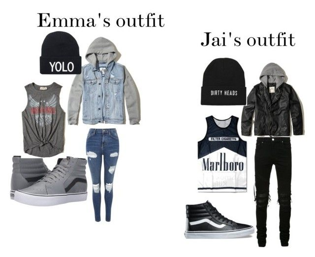 """""""Emma's and Jai Brooks date"""" by emma35056 on Polyvore featuring Hollister Co., Topshop, AMIRI and Vans"""