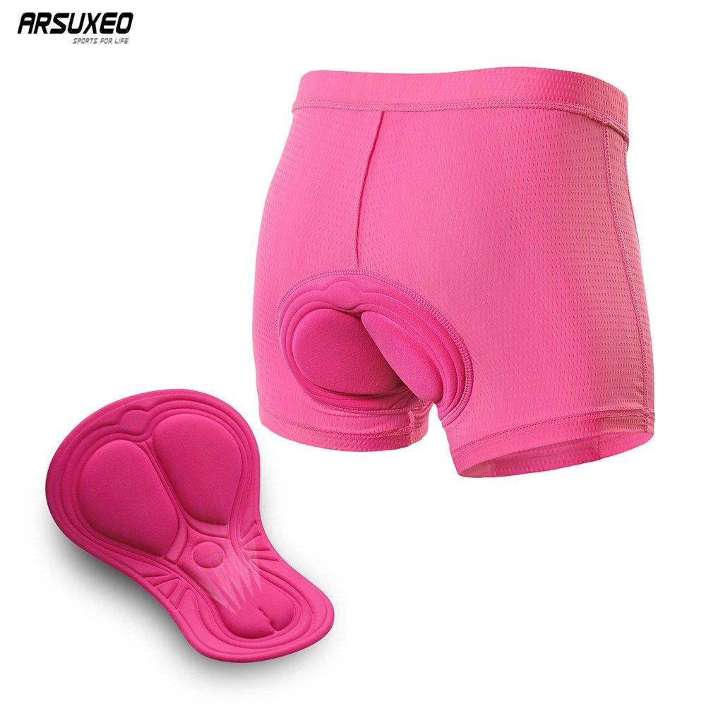 Women/'s Cycling Shorts 3D Gel Padded Bike Bicycle MTB Outdoor Underwear Shorts