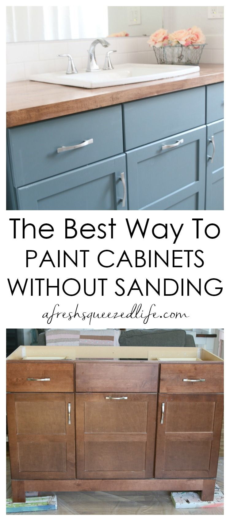Did You Know You Can Paint Cabinets Without Sanding My Video Tutorial Will Walk You Through The Process And Show You T