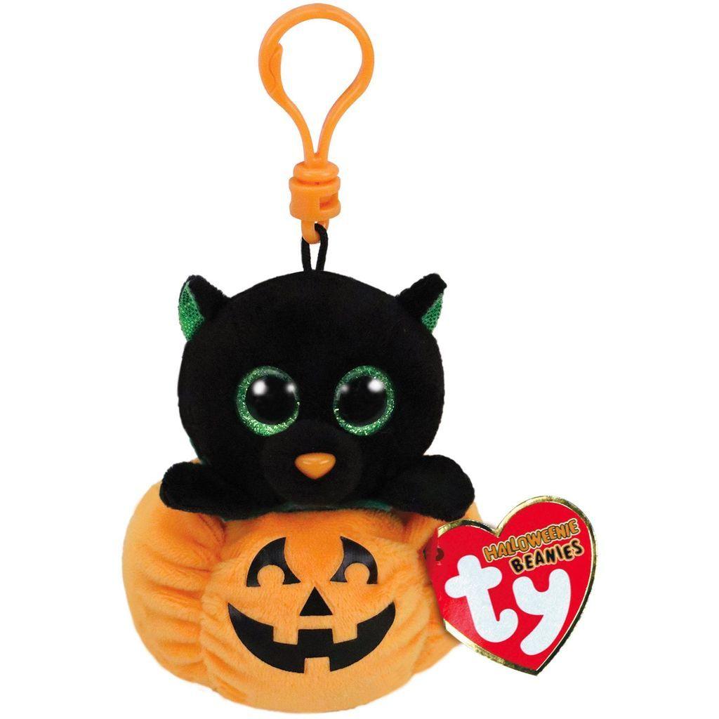81026cdf Ty Beanie Boos Midnight Cat and Pumpkin Stuffed Animal Clip ...