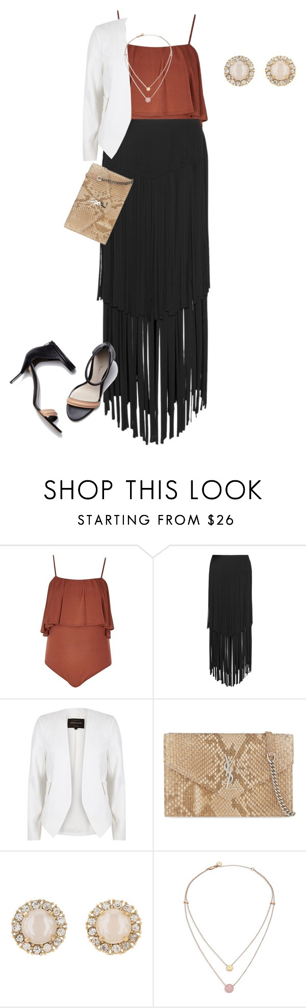 plus size simple summer chic nights by kristie-payne on Polyvore featuring River Island, Mynt 1792, Yves Saint Laurent, Kate Spade, Michael Kors and 3.1 Phillip Lim