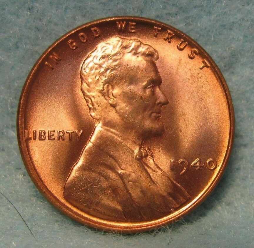 1940 lincoln wheat penny choice bu red orig mint luster