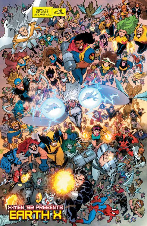 Earth X In X Men 92 10 Marvel Comics Artwork Marvel Artwork Marvel Comics Art