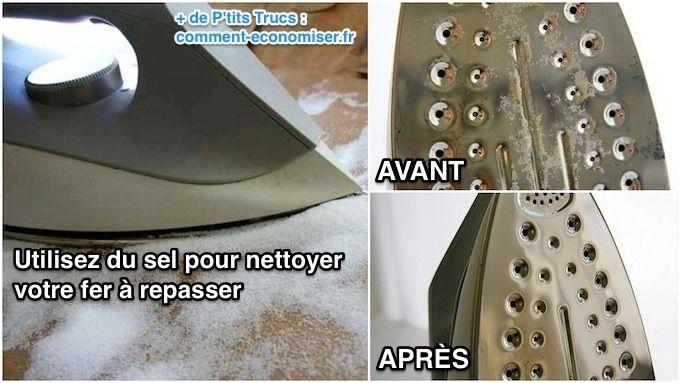 L 39 astuce efficace pour nettoyer votre fer repasser facilement nettoyant repasser et - Repasser une chemise sans fer ...