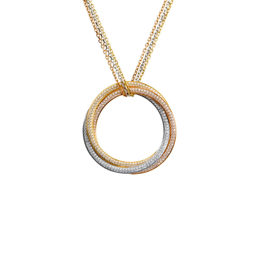 Trinity pendant large model 18k 3 gold pendant large model with cartier trinity pendant aloadofball Gallery