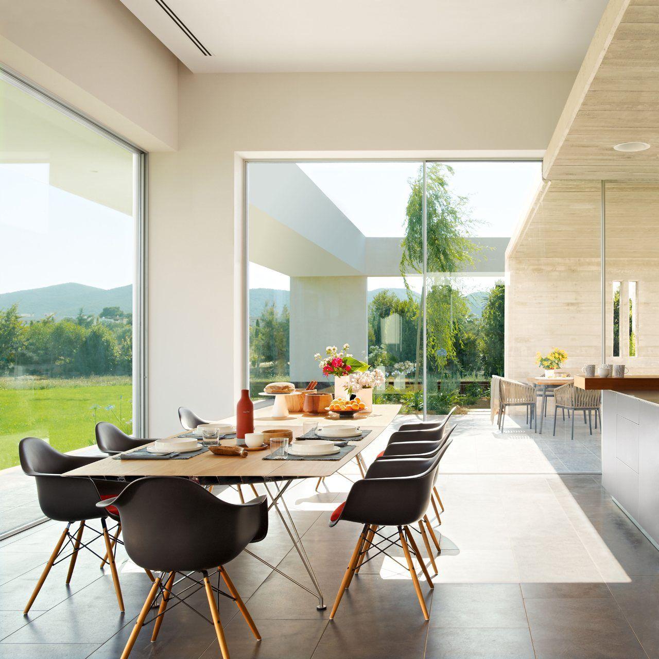 Una cocina fundida con el exterior · ElMueble.com · Cocinas y baños