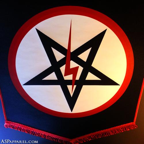 Official Sig Pentagram Pennant Church Of Satan Licensed Hot Off