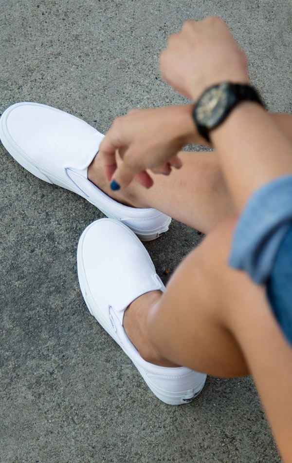 Vans Slip-On | White sneakers outfit