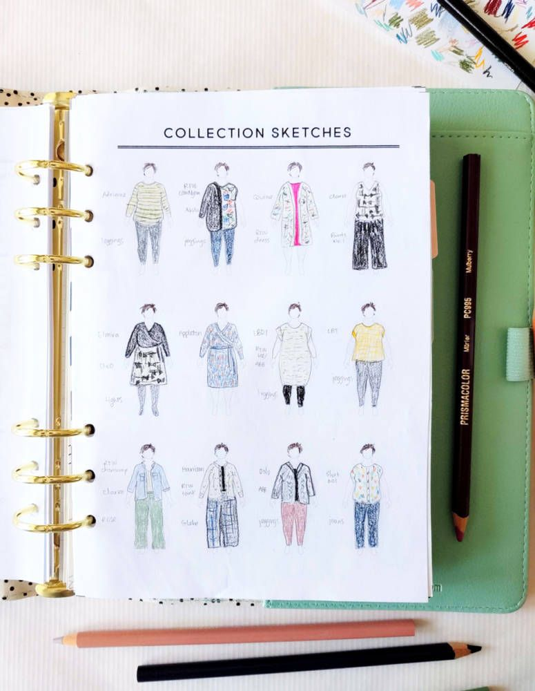 My Personalized Sewing Planner, by Elana in 2020 (With