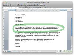 Write a Cover Letter - wikiHow