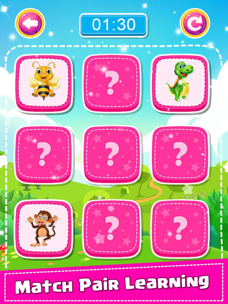 Match Pair With Learning Puzzle Game For Kids + Ready For