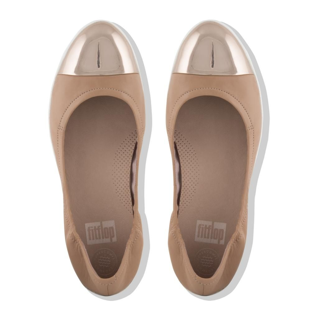 4c8e016f3304 Fitflop Women s Superbendy Leather Ballet Flats Blush