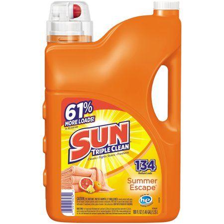 Sun Liquid Laundry Detergent Summer Escape 188 Ounce 134 Loads