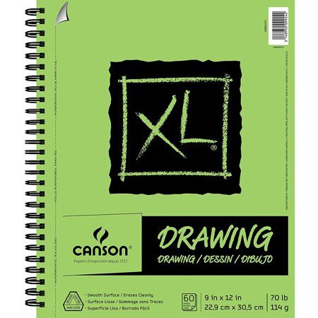 Canson Xl Series Mix Media Pad Arts Crafts Sewing Drawings Sketch Pad Spiral Drawing