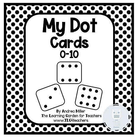 FREEBIE! Free math dot card printables for preschool and