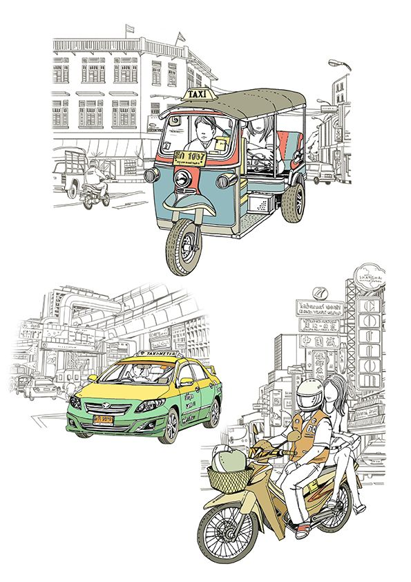 Illustration For Sawasdee Magazine March Issueconcept Thailand