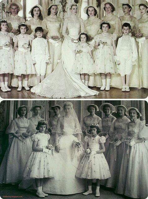 Prince Rainier lll of Monaco and Princess Grace wedding