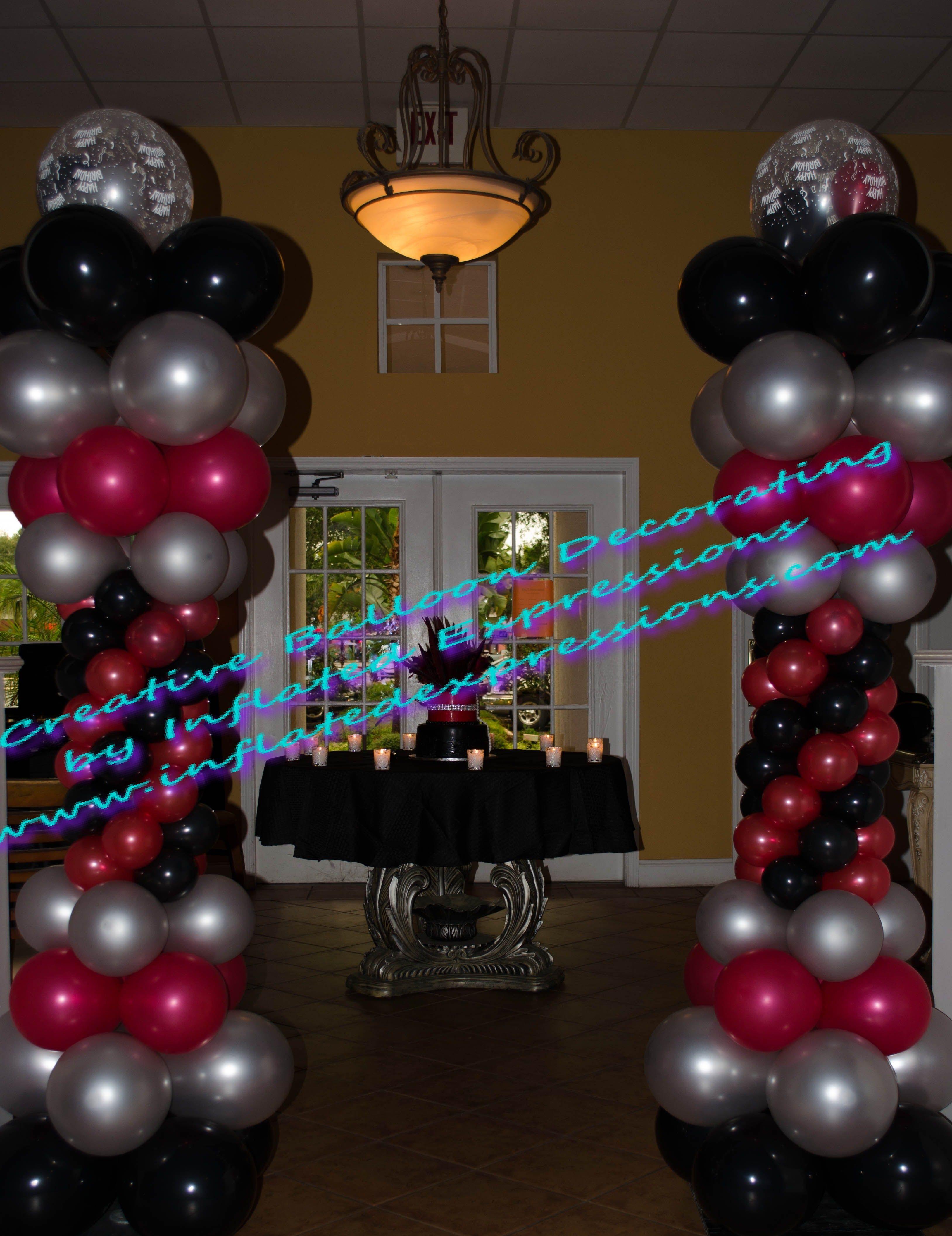 Creative Balloon Decor For 70th Birthday Party