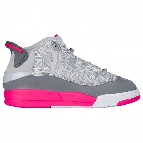 ... #jordans #jordanshoes pink grey and white jordan 13,Jordan Dub Zero -  Girls Preschool - Basketball - Shoes - Wolf Grey/Vivid Pink/Cool Grey/White-sk  ...