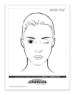 blank face diagram mary kay pinterest mary and mary kay Human Face Template Printable blank face diagram