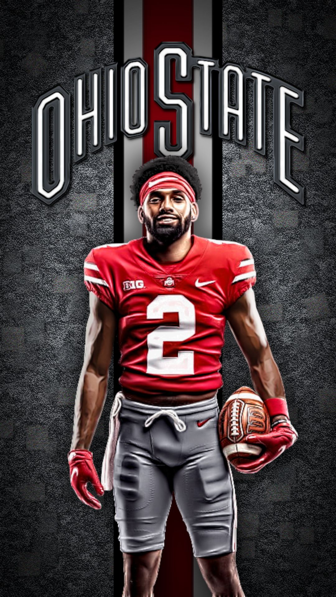 Buckeye Chris Olave Lock Screen 634 D 2 For Iphone 6 7 8 Samsung Galaxy S10 Add It To You Re In 2021 Ohio Football Ohio State Buckeyes Football Ohio State Football