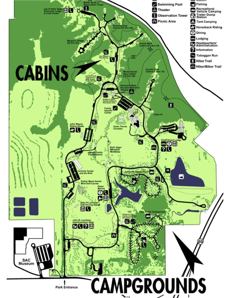 Mahoney State Park Map Andy Web Vacations   REVIEW   Eugene T. Mahoney State Park