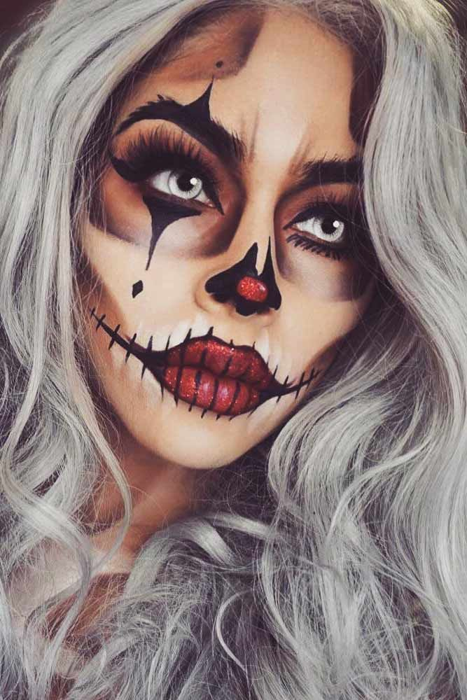 Sexy Halloween Makeup Looks That Are Creepy Yet Cute ☆ See more - cute makeup ideas for halloween