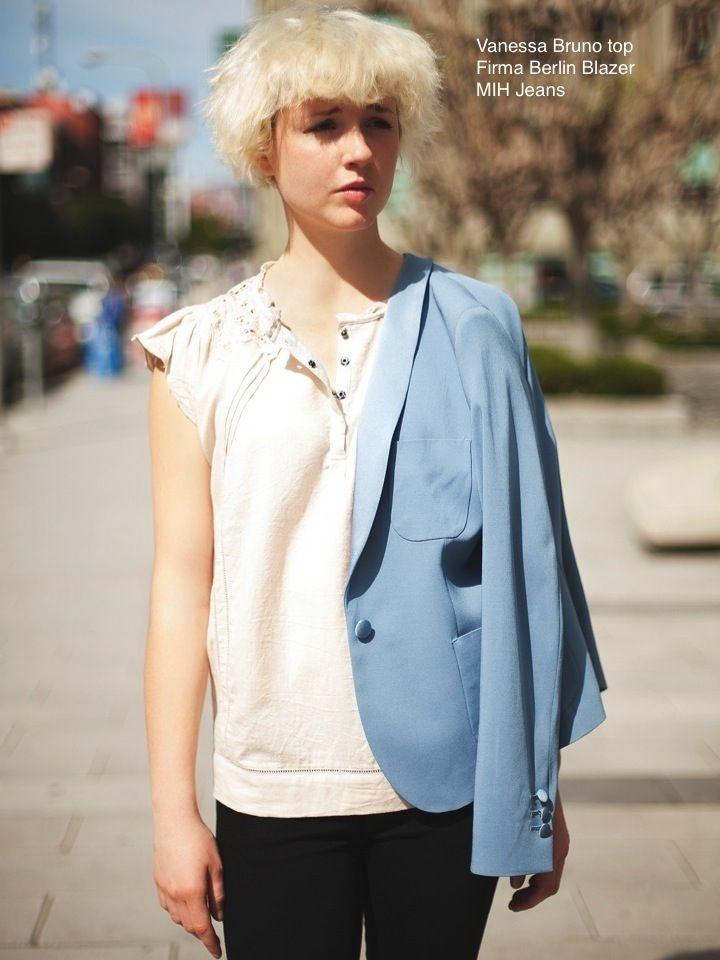 La Boutique l'Art et la Mode SPRING  Lookbook | FREDA SALVADOR see shoes, MIH jeans, FIRMA BERLIN jacket, VANESSA BRUNO ATHE blouse | STYLIST: Colton Dixon Winger | PHOTOGRAPHER: Joseph Tyler Newell | MODEL: Shay Howell